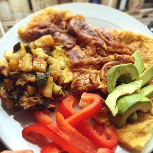 Omelette healthy fouillis