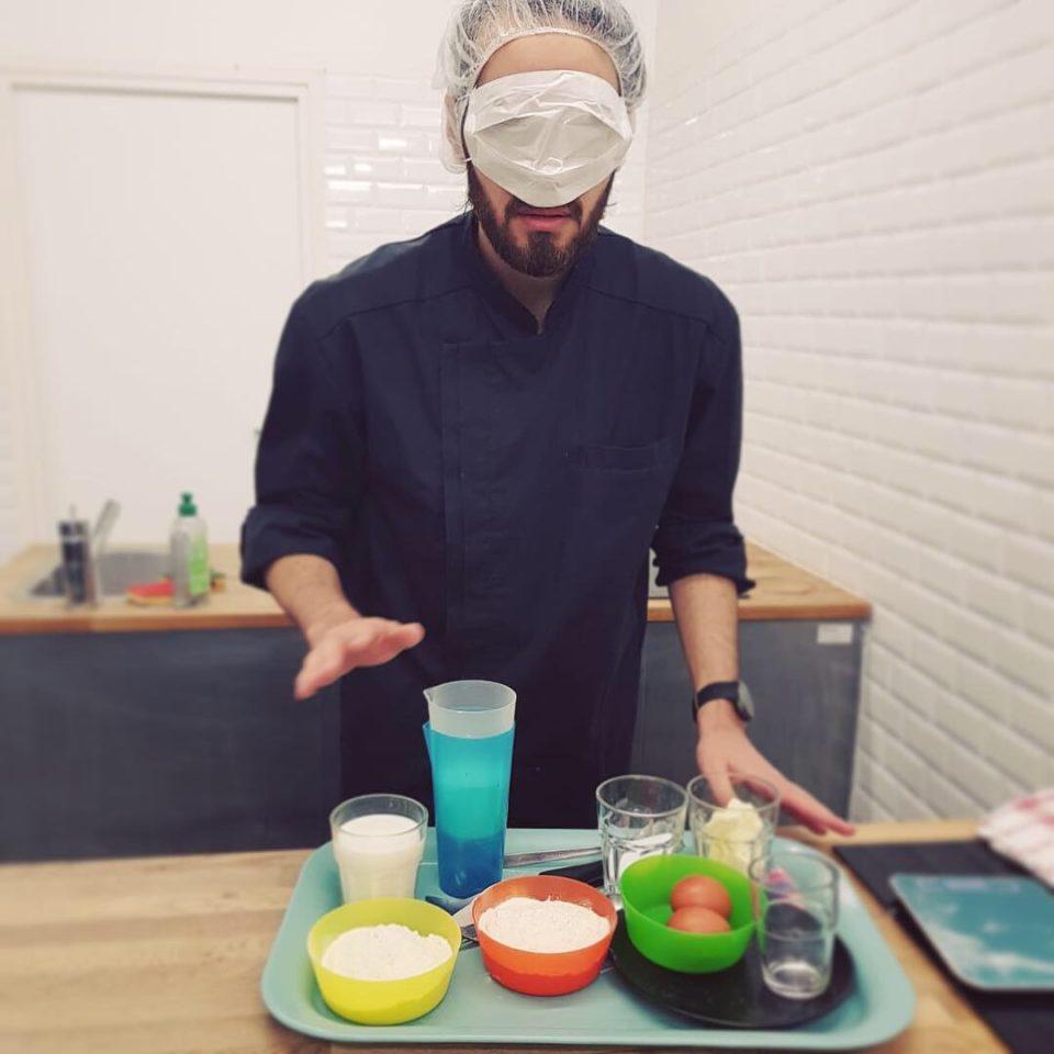 Petite particularité du Bachelor diététique et nutrition, la cuisine à l'aveugle !