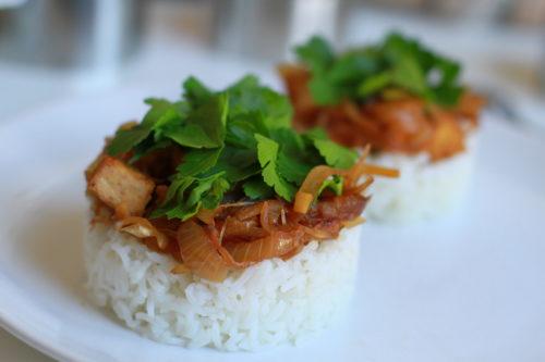 Recette de tofu au gingembre
